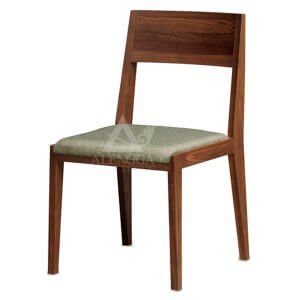Contemporary Retro Style Teak Side Dining Chair