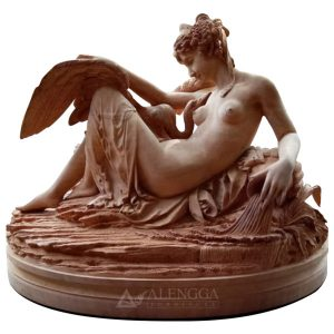 Wooden Sculpture of Leda and the Swan